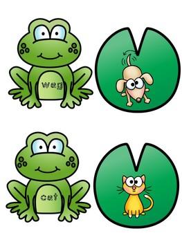 CVC Word Match Spring Frogs