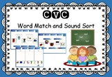 CVC - Interactive SMART Notebook - Word Match and Sound Sort