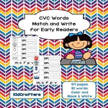 CVC Word Match and Write
