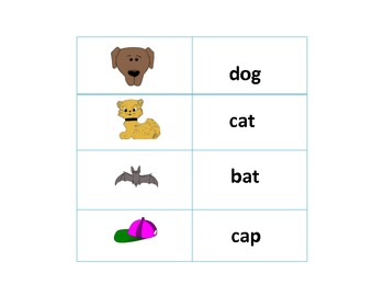 CVC Word Matching Game-Common Core Aligned