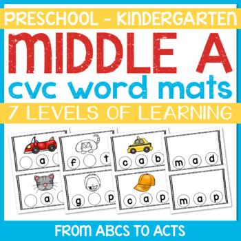 CVC Word Mats - Middle A