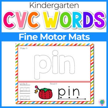 CVC Word Mats | Multi-Use CVC Word Mats | Literacy Center