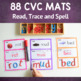 CVC Word Mats:  Read, Trace and Spell