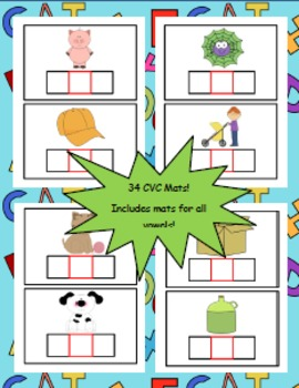 CVC Word Mats: Short Vowel Practice