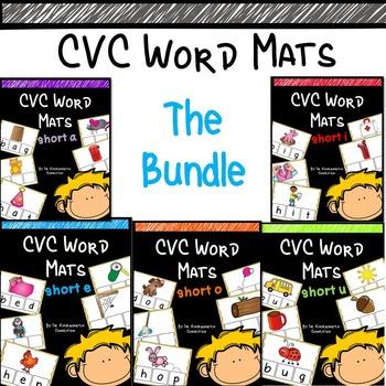 CVC Word Mats/Elkonin Boxes- The Bundle