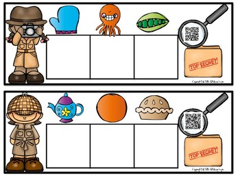 CVC Word Mystery {Includes 30 Task Cards with QR Codes}