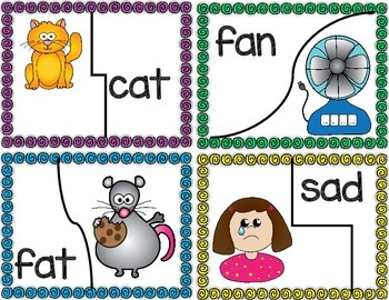CVC Word Picture Puzzles