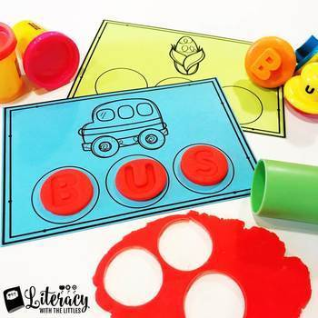 CVC Word Playdough Mats {Use with Shape & Learn Stamps}