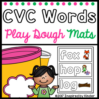 CVC Word Playdough Mats