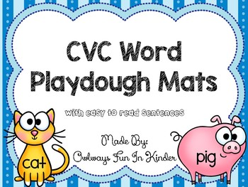 CVC Word Playdough Mats With Easy To Read Sentences