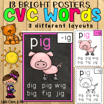 CVC Word Posters Bright