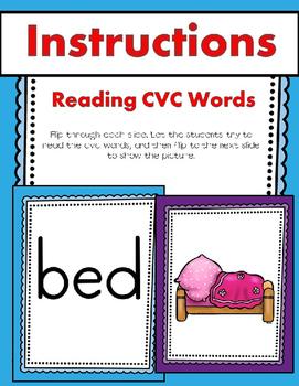 CVC Word Powerpoint Slideshow (Read Them & Write Them) 70 Words