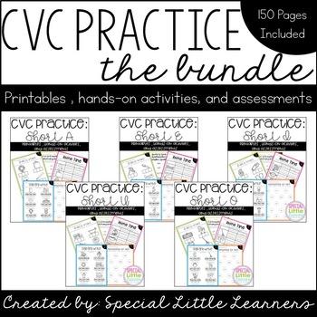 CVC Practice Bundle (All Short Vowels Included)