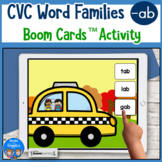 CVC Word Practice for -ab Words Boom Cards