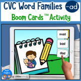 CVC Word Practice for -ad Words Boom Cards