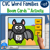 CVC Word Practice for -at Words Boom Cards