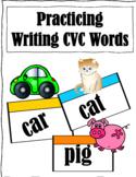 CVC Word Practice writing activity