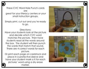 CVC Word Punchers BUNDLE