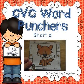 CVC Word Punchers - Short o
