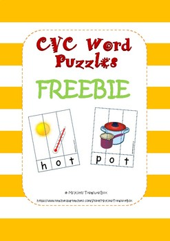 CVC Word Puzzles FREEBIE - Short o