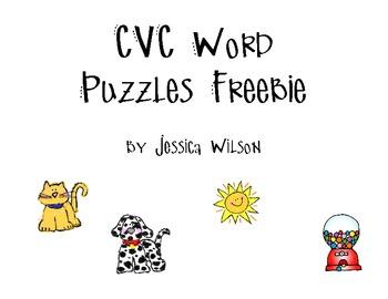 CVC Word Puzzles Freebie
