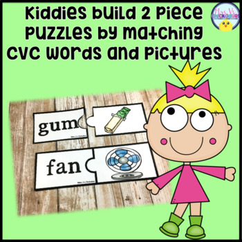 CVC Word Puzzles: Hands on Center