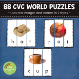 CVC Word Puzzles - Real Images