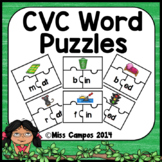 CVC Word Puzzles Short Vowels Onset and Rime