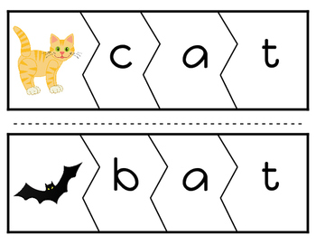 CVC Word Puzzles (Vowel A Version)