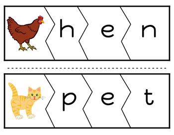 CVC Word Puzzles (Vowel E Version)