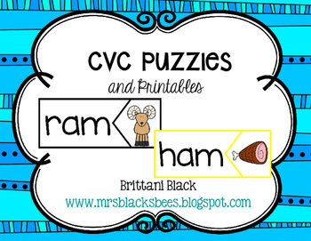 CVC Puzzles and Printables