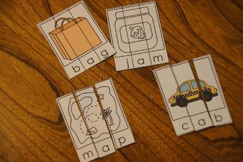 CVC Word Puzzles - short vowels