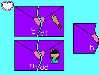CVC Word Puzzles with Moveable Pieces BUNDLE  A E I O U  for Google Classroom™