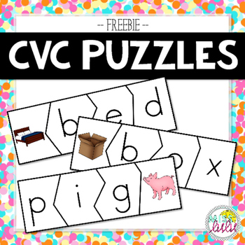 CVC Word Puzzles with Pictures