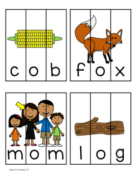 CVC Word Puzzles with Recording Sheet
