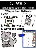 CVC Word Read and Write the Room {Kindergarten}