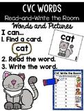 CVC Word Read and Write the Room {Kindergarten}