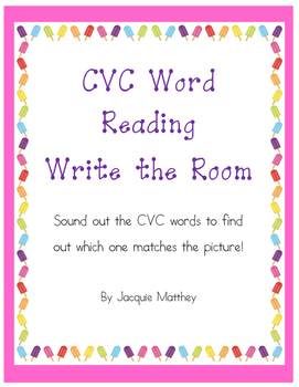 CVC Word Reading Write the Room