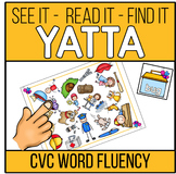 CVC Word Recognition and Fluency YATTA - Available in Colo