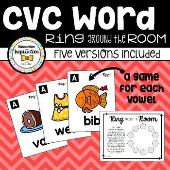 CVC Word Ring Around the Room by Education and Inspiration