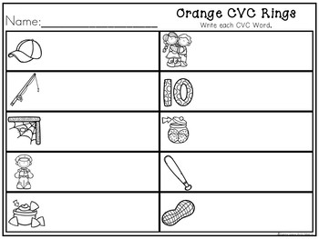 CVC Word Rings - Phonics Rings for Literacy Centers or Guided Reading