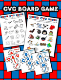 CVC Word Roll and Cover / Color Activity Set