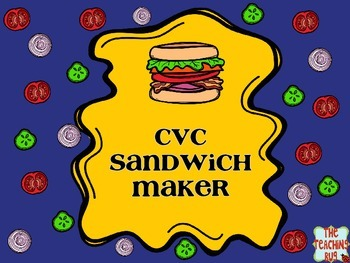 CVC Word Sandwiches Center Activities