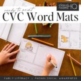 CVC Word Say It Write It Draw It Use It Mats