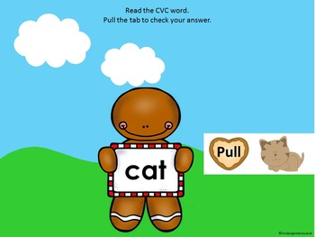 CVC Word Say and See For Smart Board