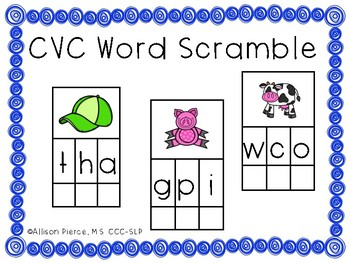 CVC Word Scramble