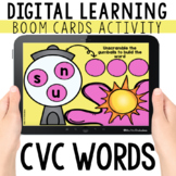 CVC Word Scramble Digital Task Cards for Distance Learning