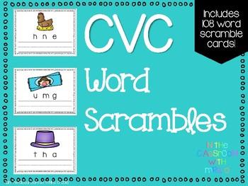 CVC Word Scrambles