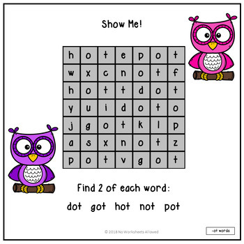 Short 'o' Vowel CVC Words Activity