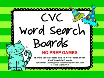 CVC Phonics Games and Phonics Activities